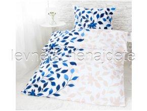 Bavlněné povlečení na dvě lůžka Ivanka - modrá 2 x 140 x 200 2x 70 x 90