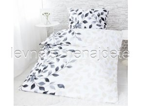 Bavlněné povlečení na dvě lůžka Ivanka - šedá 2 x 140 x 200 2x 70 x 90