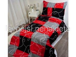 Krepové povlečení HARLEY RED 140 x 200 70 x 90