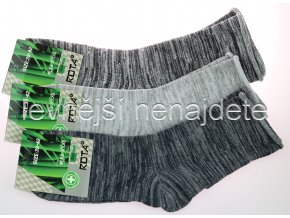 Pánské zdravotní bambusové ponožky melír 3 páry