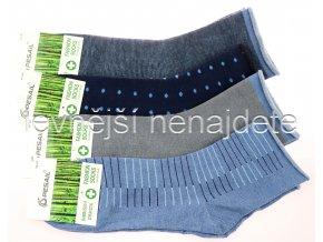 Pánské bambusové zdravotní ponožky modr 3 páry