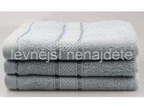 Froté ručník světle šedý 46 x 95 cm