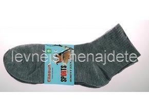 Dámské ponožky sports šedé 3 páry