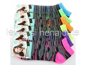 Dámské bavlněné kotníkové ponožky PW 3 páry