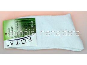 Dámské bambusové ponožky bílé