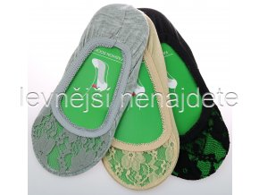 Bambusové krajkové ťapky 3 páry