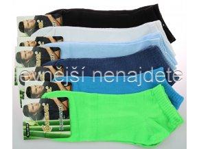 Pánské bambusové kotníkové ponožky barev 3 páry