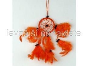 Lapač snů malý oranžový 6 cm