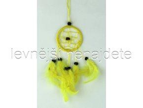 Lapač snů malý žlutý 6 cm