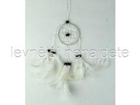 Lapač snů malý bílý 6 cm