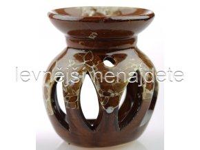 Keramická aroma lampa mramorová hnědá
