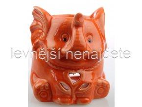Keramická aroma lampa slon oranžový