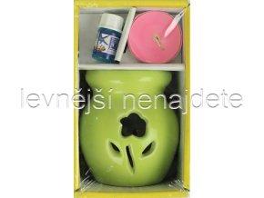 Keramická aroma lampa set zelený