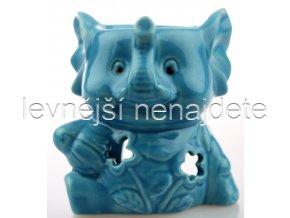 Keramická aroma lampa slon modrý