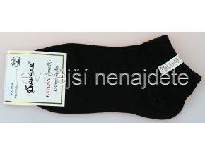 Dámské bavlněné kotníkové ponožky černé