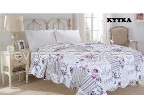 Přehoz na postel dvoulůžko KYTKA 220 x 240 cm