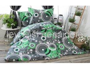 POVLEČENÍ MIKROFLANEL ŠÁRKA zelená 140 x 200 70 x 90