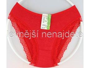 Bambusové kalhotky červené s kraječkou