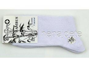 Pánské zdravotní bambusové ponožky bílé