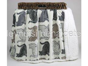 Deka mikrovlákno OVEČKA kočka 150 x 200
