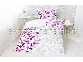 Bavlněné povlečení na dvě lůžka Ivanka - fialová  2 x 140 x 200 2x 70 x 90