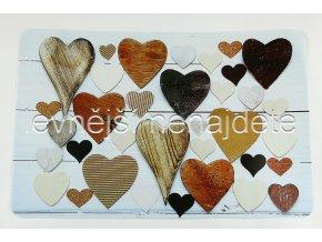 Prostírání plastové srdce 28 x 43 cm