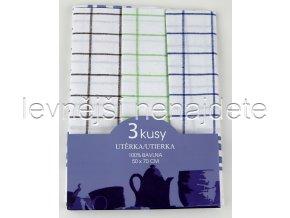 Bavlněné kuchyňské utěrky sada 3 kusů 50 x 70 cm