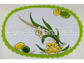 Velikonoční ubrus zelený narcis 32 x 48 cm