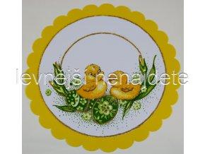 Velikonoční ubrus žlutý kulatý 24 cm