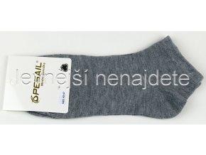 Pánské bavlněné kotníkové ponožky šedé