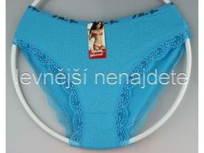 Bavlněné kalhotky s kraječkou modré