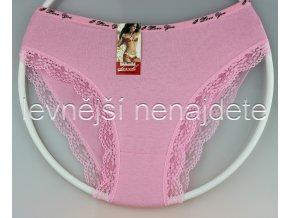 Bavlněné kalhotky s kraječkou růžové