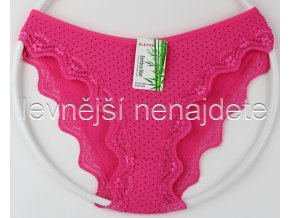 Bambusové kalhotky puntík s kraječkou růžové