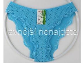 Bambusové kalhotky puntík s kraječkou modré