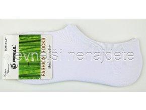 Bambusové pánské krátké ponožky bílé