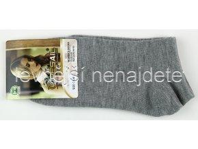 Dámské kotníkové ponožky šedé