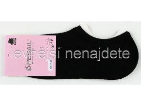 Bavlněné dámské krátké ponožky černé