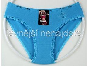 Bavlněné kalhotky s kraječkou kyt modré