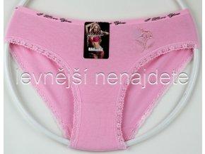 Bavlněné kalhotky s kraječkou kyt růžové