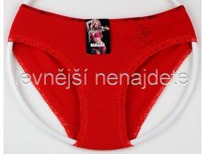 Bavlněné kalhotky s kraječkou kyt červené
