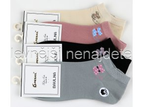 Dámské bavlněné kotníkové ponožky koc 3 páry