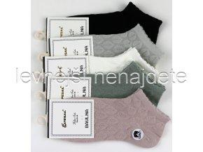 Dámské bavlněné kotníkové ponožky list 3 páry