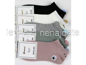 Dámské bavlněné kotníkové ponožky CW 3 páry