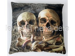 Povlak na polštářek s motivem 3D KOSTNICE 45 x 45 cm