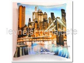 Povlak na polštářek s motivem 3D NEW YORK 45x45cm