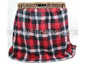 Fleecová deka kostka černočervená 150 x 200
