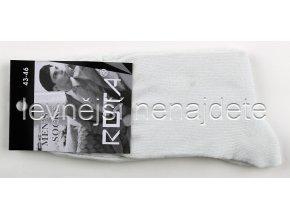 Pánské bavlněné ponožky bílé