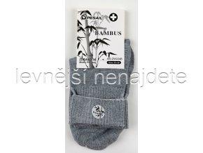 Dámské zdravotní bambusové ponožky šedé