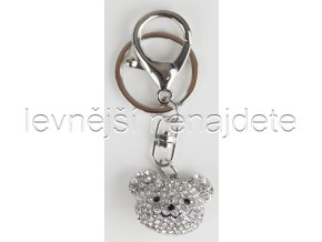 Přívěsek na klíček medvídek stříbrný