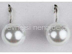 Náušnice perličky bílé